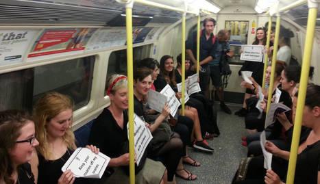protesta aborto metro Londres 2014