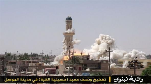 destrucción mezquitas Mosul ISIS 2014