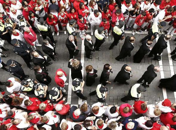 Ayuntamiento procesión san Fermín Pamplona 2014