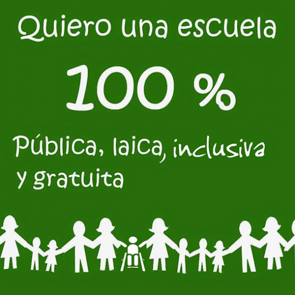 Escuela laica pública inclusiva y gratuita