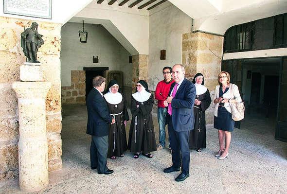 monasterio Calabazanos visita presidente Diputación Palencia 2014