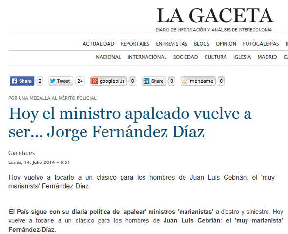 ministro apaleado y la virgen La Gaceta