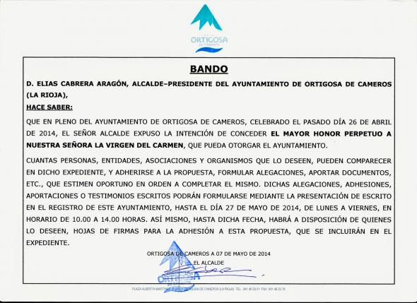 Bando_Ortigosa virgen alcaldesa