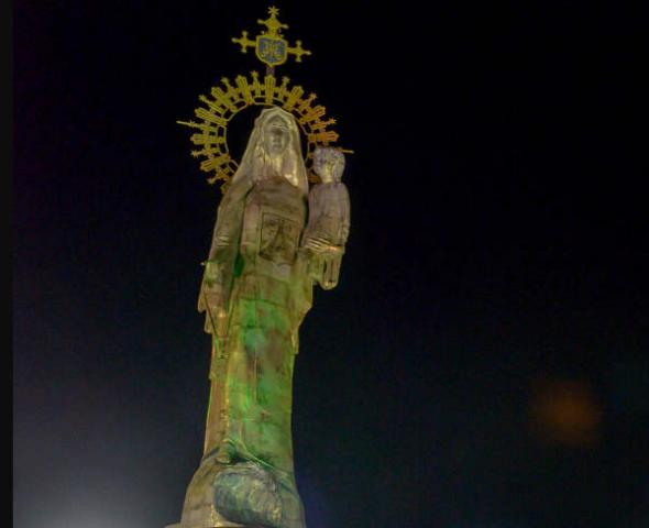 Estatua stella maris en México