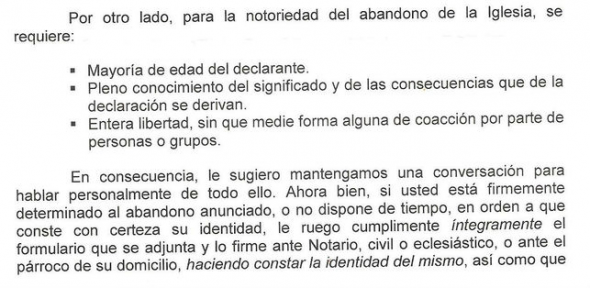 apostasia Madrid carta 1