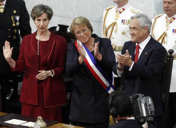 Bachelet toma posesión en Senado Chile