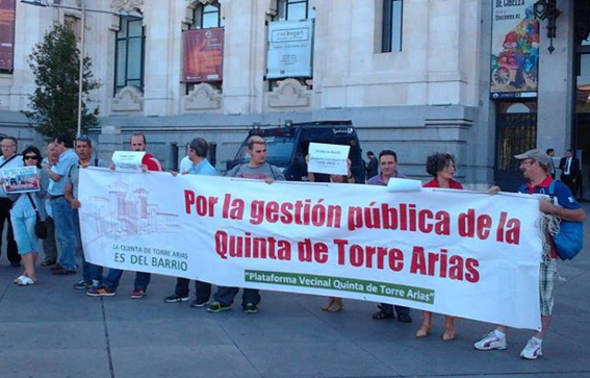 Protesta Torre Arias
