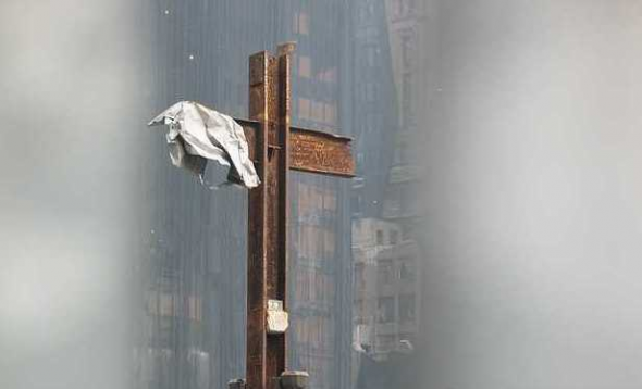 cruz en la zona cero Nueva York