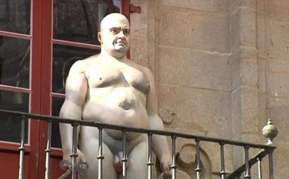 esculturas desnudos Santiago