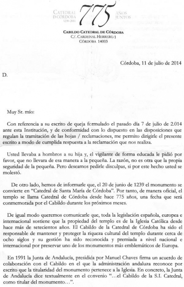 Carta Catedral 2014a