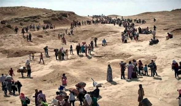 yezidis huyen Irak 2014