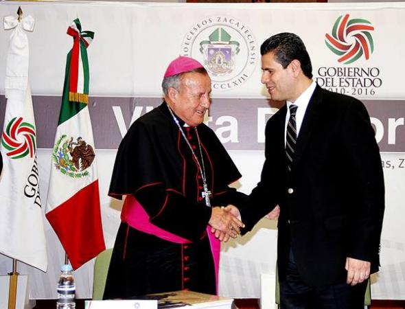 obispo con gobernador Zacatecas