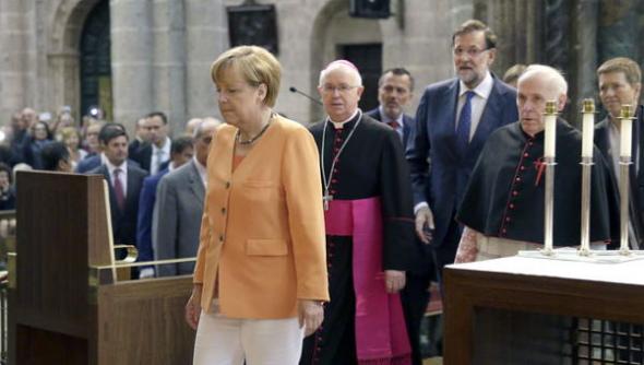Merkel catedral Santiago 2014
