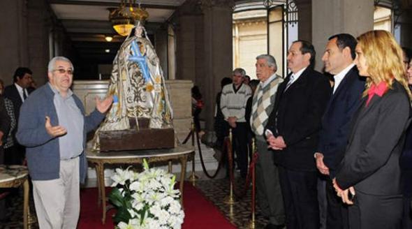Virgen de la Merced en la Casa de Gobierno de Tucumán 2014
