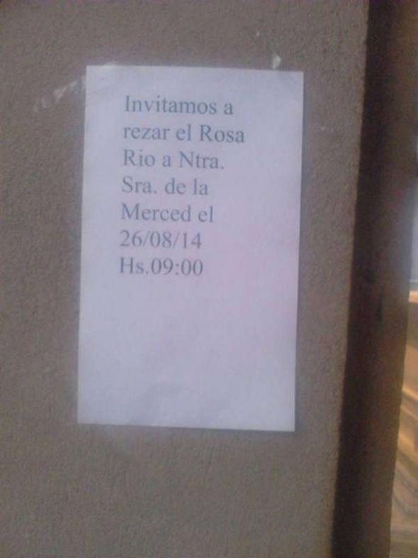 llamada a rezar en Casa Gobierno Tucumán 2014