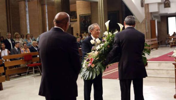 autoridades ofrenda floral patrona Valladolid 2014