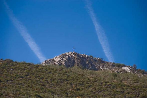 Cruz monte de la Camorra en Málaga
