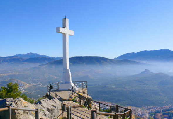Cruz castillo de santa Catalina (Jaén)