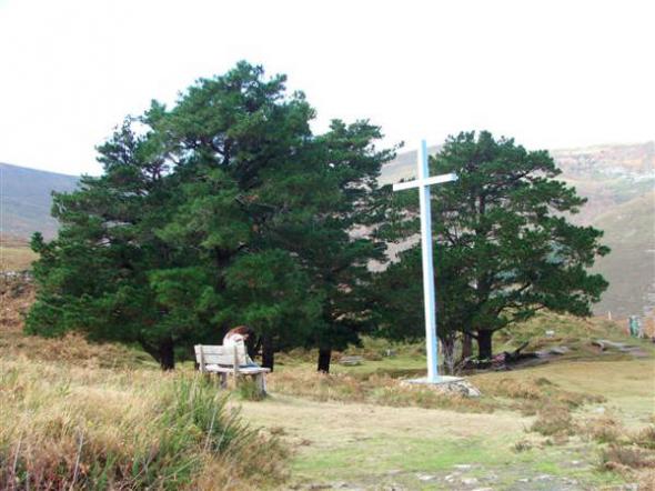 Cruz en San Sebastián de Garabandal (Cantabria)