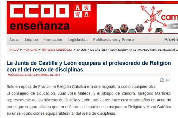 CCOO Castilla y León