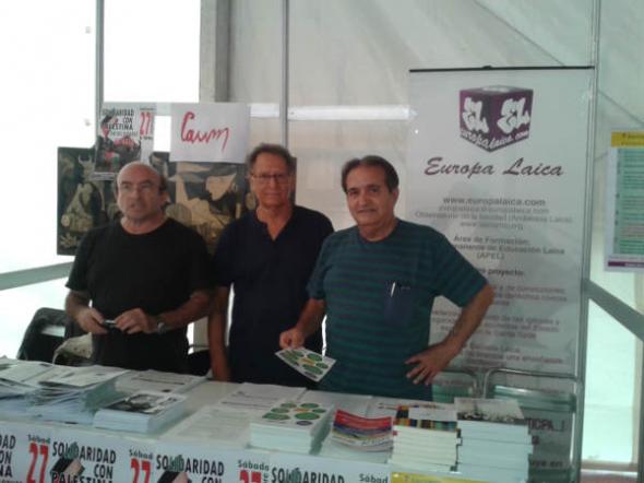 Europa Laica en la fiesta del PCE Madrid  20140919