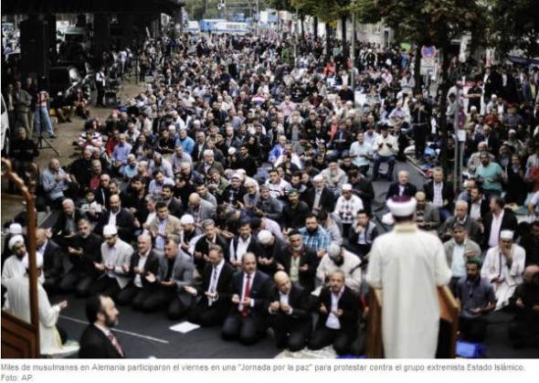protesta contra Estado Islámico en Alemania 2014