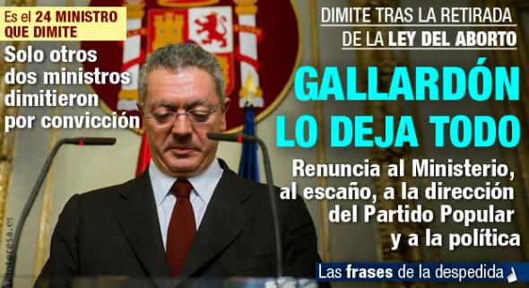 dimisión de Gallardón 2014