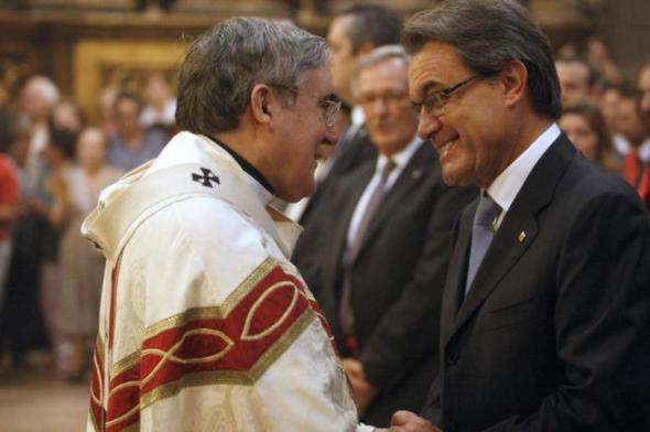 arzobispo saluda a Mas fiestas Mercé 2013