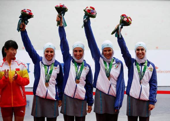 deportistas Irán con velo