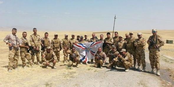 Soldados Ejército cristiano Irak 2014