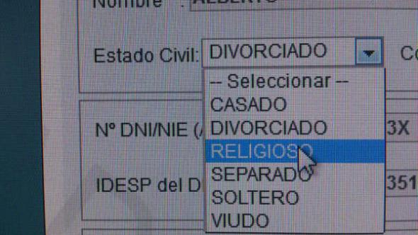 Becas Estado civil religioso