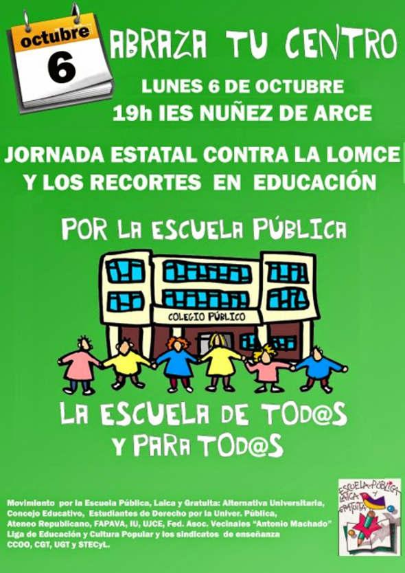 Abraza Escuela Pública Valladolid oct 2014