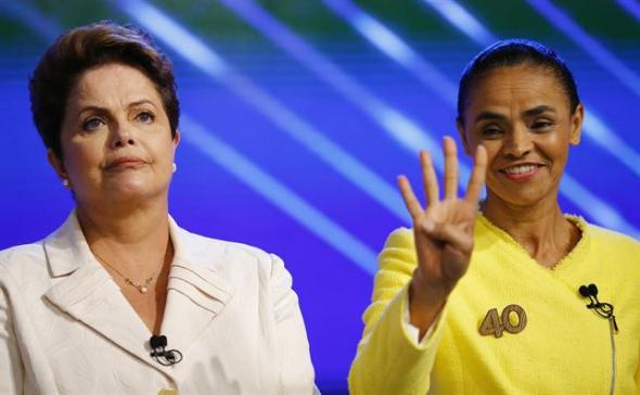 Dilma y Marina candidatas Brasil 2014