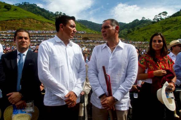 autoridades Oaxaca acto coronar virgen 2014