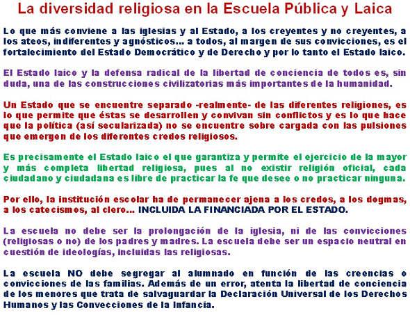 Diversidad religiosa escuela Paco Delgado