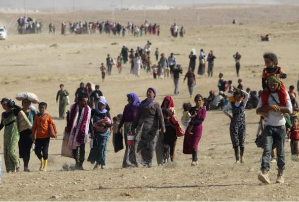huyendo del Estado Islámico