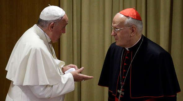 Bergoglio y el cardenal Peter Erdo