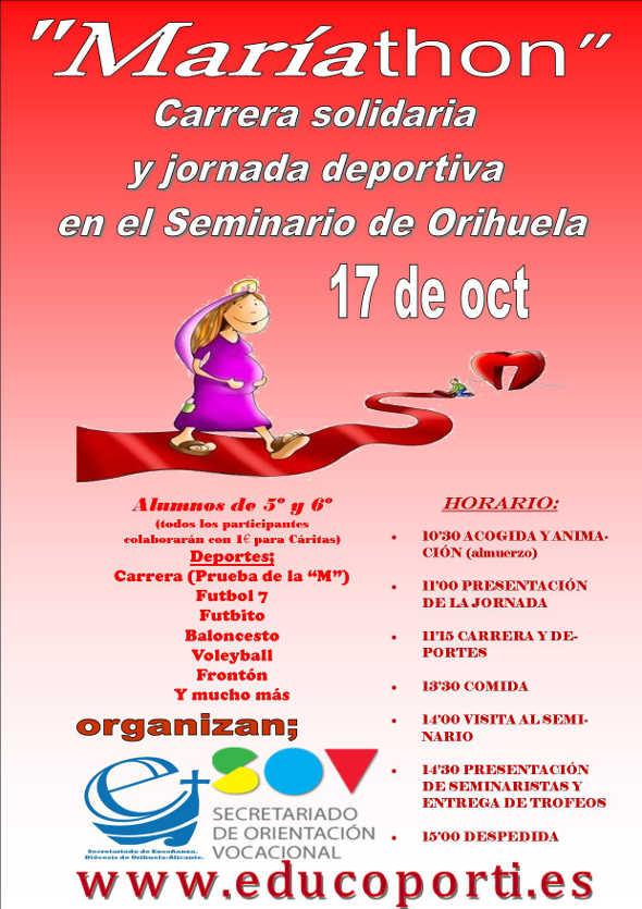 cartel maria-thon Orihuela alumnos religión