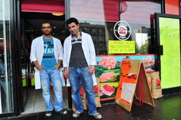 carnicería halal Sarcelles Francia 2014