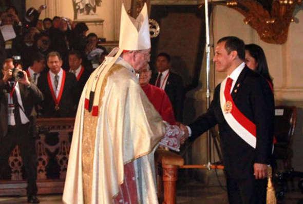 Cardenal Cipriani y presidente Ollanta
