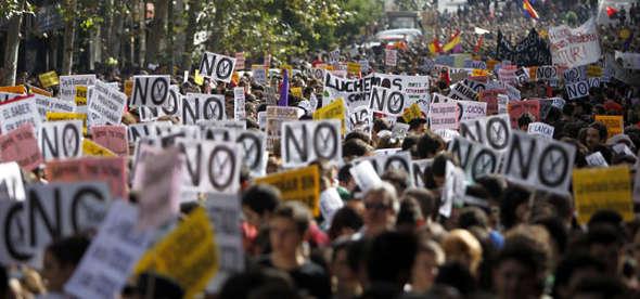 mani contra la LOMCE y Wert 2014 octubre