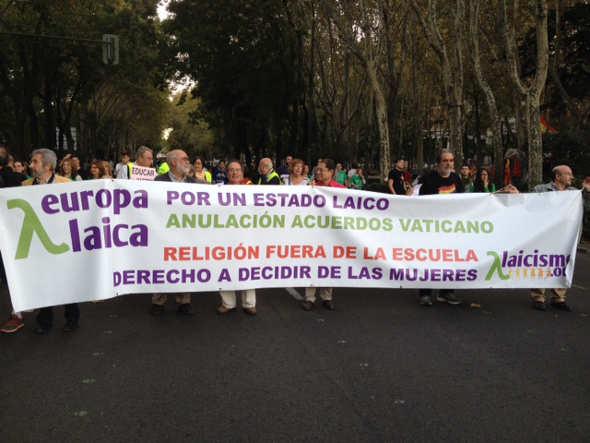 mani contra LOMCE Europa Laica oct 2014