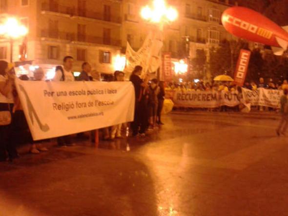 mani contra LOMCE Valencia Laica oct 2014