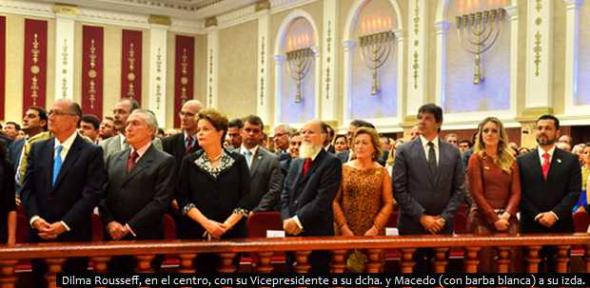 Dilma inauguración templo iglesia Universal