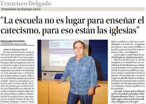 Entrevista Francisco Delgado La Provincia 20141024