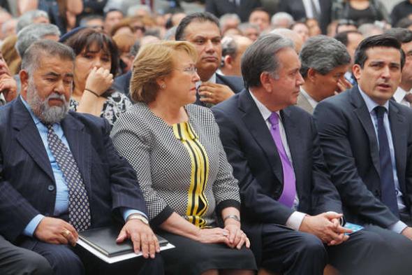 Bachelet acto evangélico Palacio de la Moneda 2014
