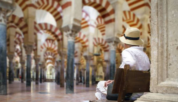 visitante mezquita de Córdoba