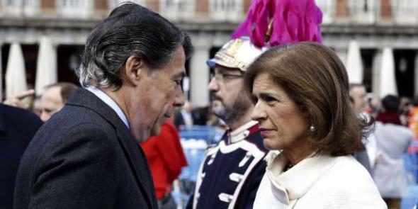 Presidente y Alcaldesa Madrid y virgen Almudena 2014