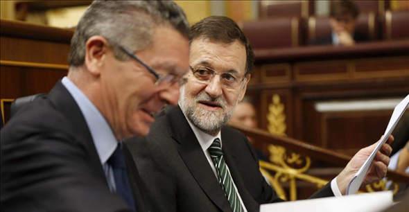 Gallardon y Rajoy en el Congreso