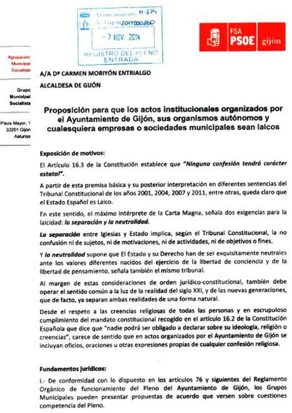 proposición PSOE Gijón laicidad 2014 a